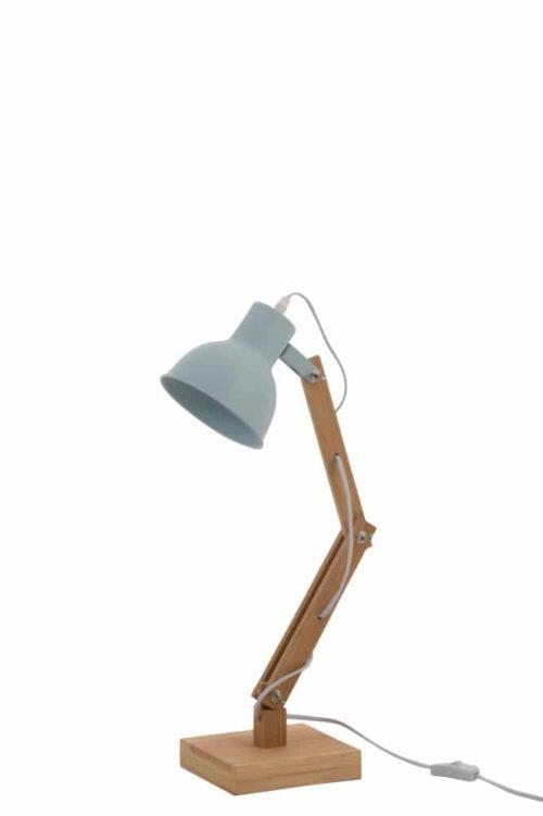 Lampada Da Tavolo Denis Abete/Metallo Blu Chiaro | Jolipa
