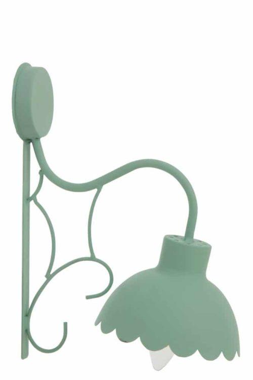 Lampada Da Parete Fiore Candy Metallo Verde Chiaro | Jolipa