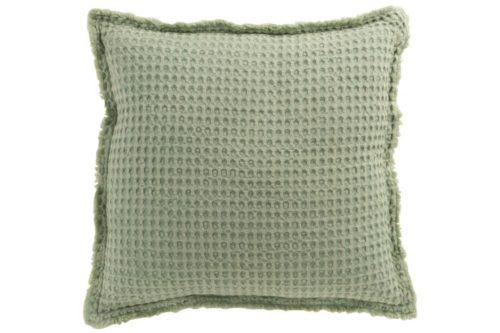 Cuscino Goffrato Cotone Verde Chiaro