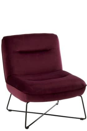 Sedia Lounge Supporto Tessuto/Metallo Burgundy | Jolipa