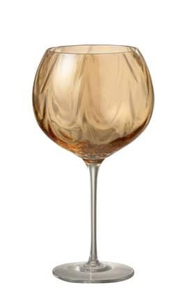 Bicchieri Da Vino Irregolare Vetro Ambra (6pz) | Jolipa