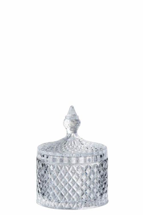 Barattolo Tagliato Cilindrico Vetro Trasparente Medium | Jolipa
