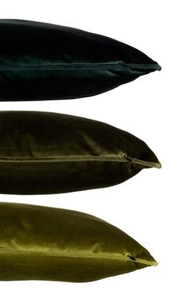 Cuscino Quadrato Velluto Poliestere Verde Assortimento Di 3 | Jolipa